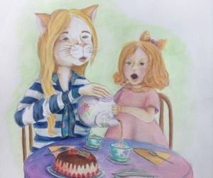 art, color pencil, and drawing image