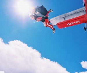 dreams, skydiving, and fly image