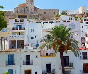 ibiza, palm trees, and spain image