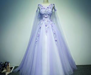 ball gown, girls, and lilac image