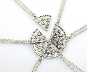 friend, pizza, and six necklace image