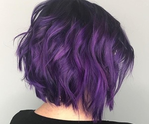 beauty, coloured hair, and short hair image