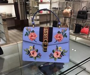 bag, fashion, and flowers image