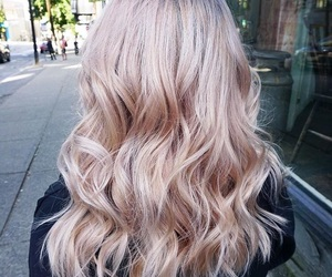 beauty, blonde hair, and coloured hair image