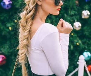 coiffure, beautiful, and blond image