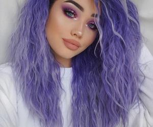 hair, makeup, and girl image