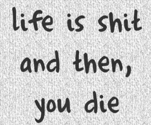 life, quotes, and shit image