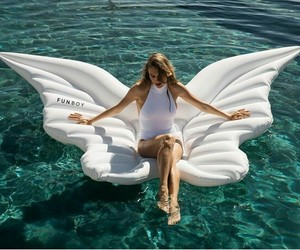angel, float, and wings image