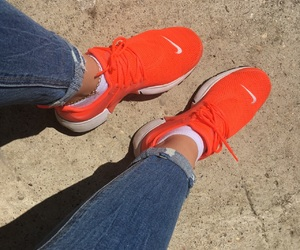 lifestyle, nike, and orange image