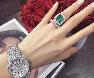 luxury, ring, and watch image