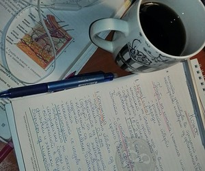 biology, books, and coffee image