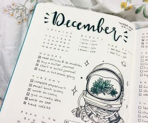 journal, bullet journal, and december image