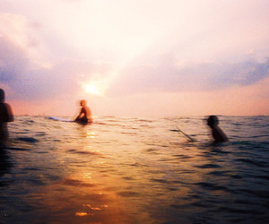 ocean, summer, and sunset image