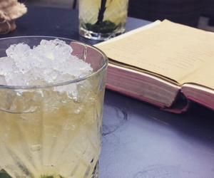 book, cocktail, and food and drink image