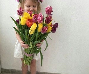 flowers, kids, and baby image