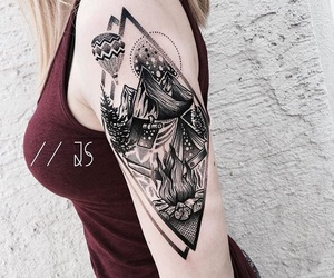 aesthetic, alternative, and arm tattoo image