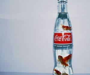 art, fish, and gold fish image