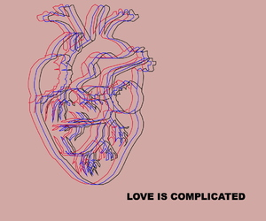complicated, love, and heart image