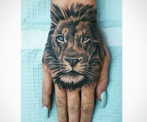hands, leon, and tattoo image
