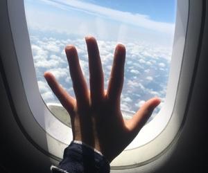 airplane, new york, and usa image