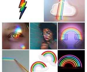 beautiful, rainbow, and love image