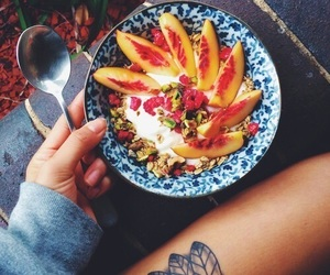bowl, yogurt, and fruit image