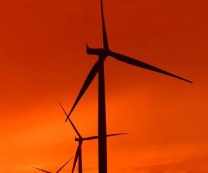orange and wind turbines image