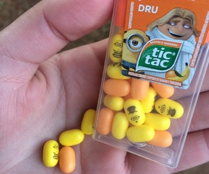 food, minions, and tictac image