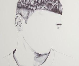 art, boy, and matching image