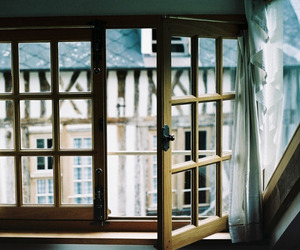 window, vintage, and house image