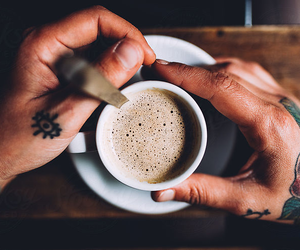 coffee, drink, and Tattoos image