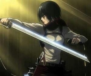 mikasa, shingeki no kyojin, and attack on titan image