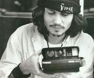 johnny depp and black and white image