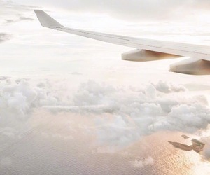 aesthetic, airplane, and sky image