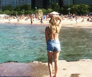 backless, bikini, and blonde hair image