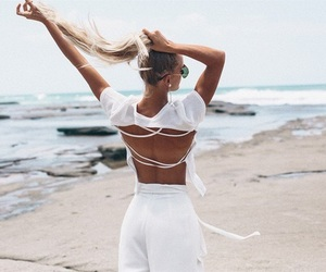 beach, vibes, and fashion image