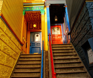 architecture, color photography, and haight-ashbury image
