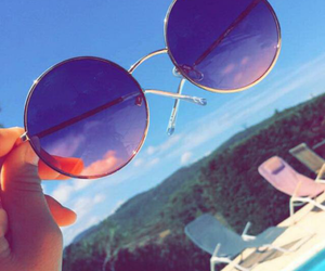 summer, sky, and sunglasses image