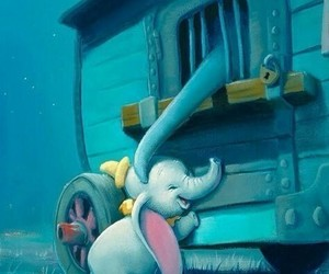 cartoon, disney, and elephant image