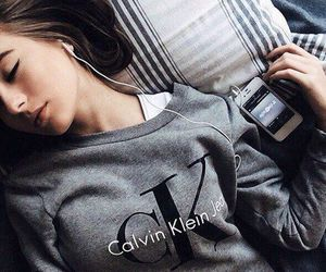 girl, Calvin Klein, and music image
