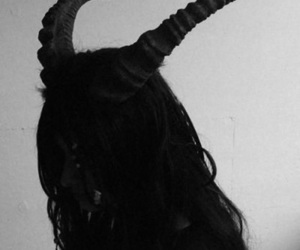 bad, horns, and black image
