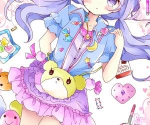 anime, art girl, and baby girl image