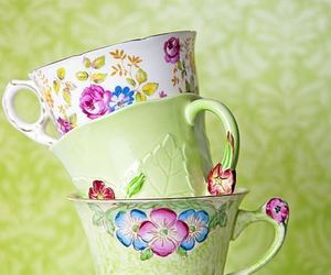 girly, pretty, and tea image