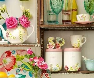 colourful, cupboard, and shabby chic image