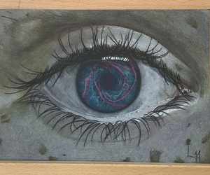 art, coloured pencil, and drawing image