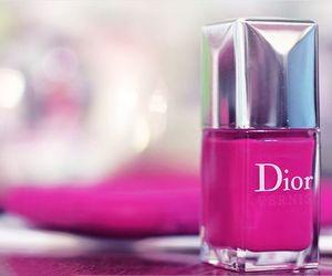 pink, dior, and nail polish image