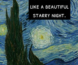 background, quote, and starry night image