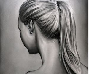 art, ponytail, and goals image