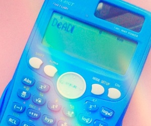 aesthetic, calculator, and pink image