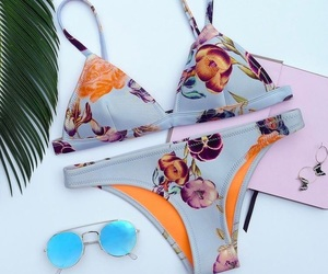 summer, bikini, and triangl image